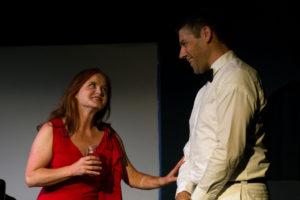 June Alane Reif and Robert Silva in Harold Pinter's The Lover